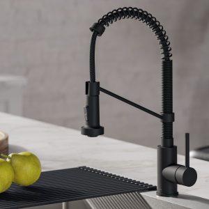 black kitchen fauce
